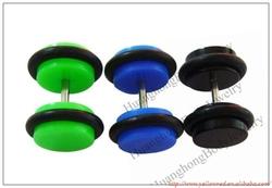 Colored UV fake ear plugs body piercing jewelry