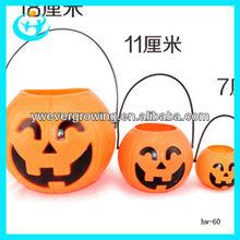 Smiling face pumpkin prop plastic halloween pumpkin buckets