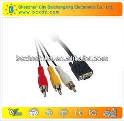 high standard hd 15p m-m vga rca cable