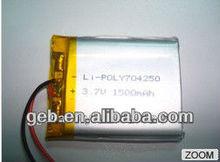 GEB704250 rechargeable lipo battery 3.7v 1500mAh