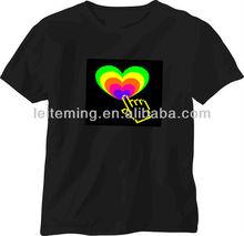 music equalizer flashing T-shirts led light t-shirt