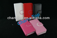 Double Color Wallet Leather Cover For Apple iPhone 5