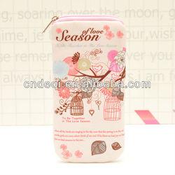 2013 new model cute canvas glass bag cellphone bag