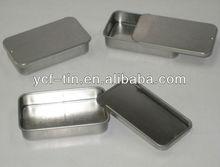 slide top mint tin box case