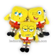 yellow plush sponge-bob stuffed unit toys