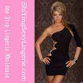 Novo Design atacado Sexy One Arm Mini Club vestido vestido de noite grávida