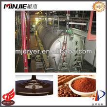conveyor belt dryer for cocoa paste