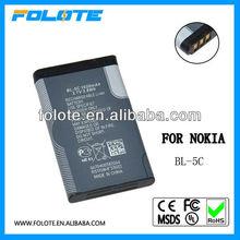 BL-5C battery for nokia 1100/ 1101/ 1110/ 1110i/ 1112/ 1200/ 1208/ 1209/ 1280/1600/ 1650/ 2300/ 2310/ 2600/ 2610