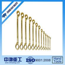 Aluminum & Beryllium Copper Alloy Double Box Offset Wrench Set,13Pcs,Non-Sparking Safety Tools