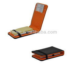 PU memo pad holder with the pen