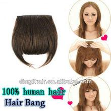 Fashion!High quality!100% Brazilian human remy hair clip on bangs