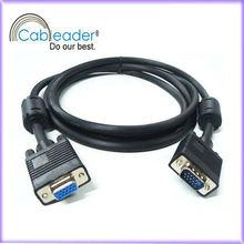 Black VGA Monitor Cable 15pin NIcke Plated