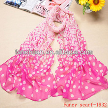 Hot selling lovely scarf with circle pattern