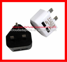 UK Travel /Home 2 port USB Charger For Blackberry HTC Samsung Mini USB Interface CE.ROHS