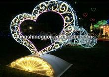 3d led loving heart lighting