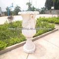 Blanco romana olla con los pies gigante de la maceta de jardín/urna/plantador de elegante diseño
