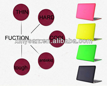 Bright color Crystal Hard Case for Macbook air 13.3 ,Transparent hard shell for macbook air13.3 laptop