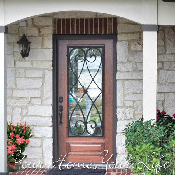 Fiberglass Door with Wrought Iron 600 x 600
