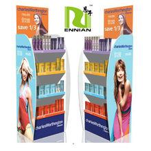 shampoo cardboard floor display stand for advertising