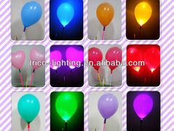 led flashing balloon/single color led balloon/Flashing novelty lights