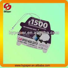 Absorbent car air filter paper freshener