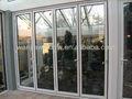 Modernos dobráveis porta usada comercial portas de vidro ( material de pvc disponíveis )