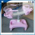 Bt-ab101 Hospital altura e cabeça de plástico ajustável cama carro