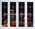 hot vender decorativas portas dobráveis design moderno estilo alunminum partição