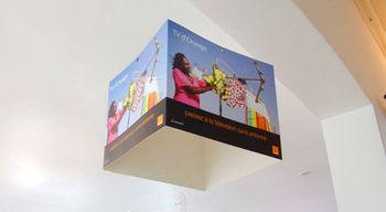 Retailers paperboard dangler store display
