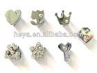 diffrent design 10mm rhinestone slide bracelet letters for phone strap and pet collor