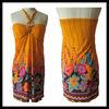 colorful beach wrap dress