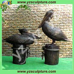 Indoor Beautiful Casting Bronze Pelican Sculpture BASN-D073