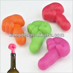 bright color silicone wine stopper