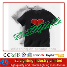 New Sound Activated Light up & down LED EL T-Shirt for children