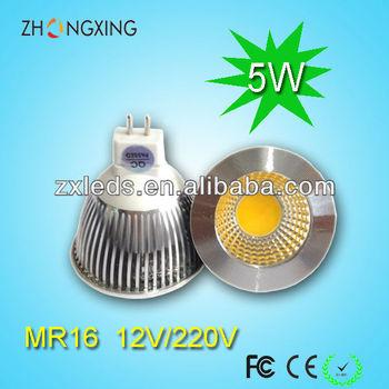 top quality 5w mr16 cob led