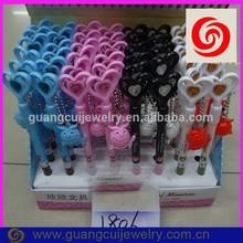 fashion newest plastic hotsale cartoon heart owl promotional bird shaped pen