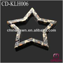 Star shaped disruptive pattern keychain snap hook CD-KLH006