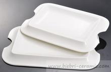 7, 7.5, 8, 9, 10, 10.5 Inch Microwave safety Deep Porcelain Rectangular Restaurant Plates Ceramics