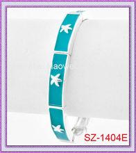 Hard to find!! Summer Ornaments!! SZ-1404E Balance Bracelet with Starfish Imprinting Bangles;Wrist Bangle;Cool Summer Bangles