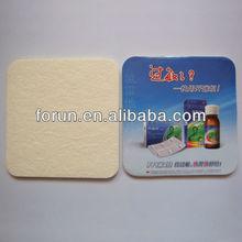 2014 custom printed pad coaster absorbent paper coaster