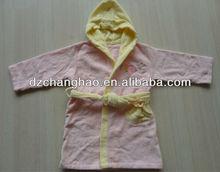 100% algodão de lã crianças baratos kimono robe com bordado