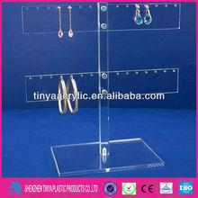 Clear Acrylic Earring Display Rack Earrings Stand Jewelry Displays