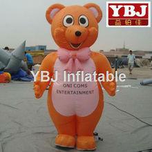 cute inflatable bear cartoon,inflatable costume