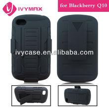 new arrival protectores para celulares for blackberry Q10 new design hybrid combo case