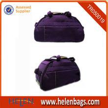 Customized safari purple carryon rolling duffel cabin travel trolley bag