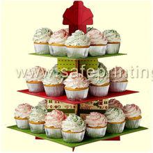 Beauty design 4 tiers tower shape cupcake display racks cupcake display units cardboard cupcake cases
