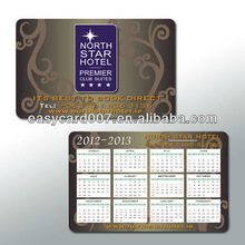 Credit card size PVC 2015 calendars cards China Manufacturer