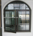 de aluminio de la ventana del arco de la parrilla diseño wanjia precio de fábrica