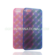 Plain Transparent mobile phone protector case for Iphone 5 with cirsscross figure