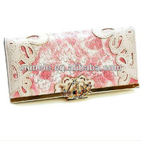 colorful peacock texture fashion coconut wallet 2013